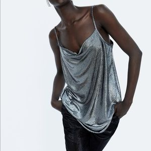 NEW! Zara Metallic Camisole